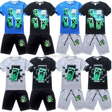 4 to 12ages new children kids boys girls clothing sets summer children kids boys girls outfits clothing t shirt and casual pants(China (Mainland))
