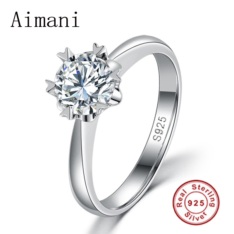 Luxury 100% Solid Silver Rings With S925 Stamp Real 925 Silver Rings Set 1 Carat SONA CZ Diamond Wedding Rings For Women JZR122(China (Mainland))