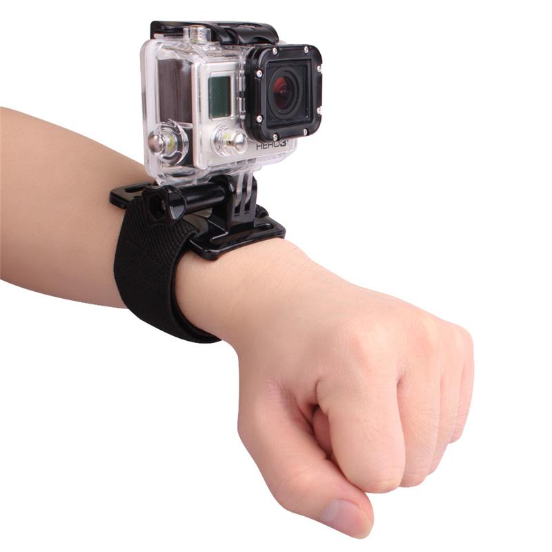 Adjustable Wrist Strap Elastic Wrist Band Arm Strap Mount for Gopro Hero 3 3+ 4 Xiaomi Yi xiaomi SJ4000 Go pro Accessories