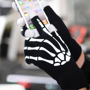 DHL /fedex free shipping Unisex Winter Mobile Phone Touch Screen Gloves Skeleton 2000pcs=1000pair