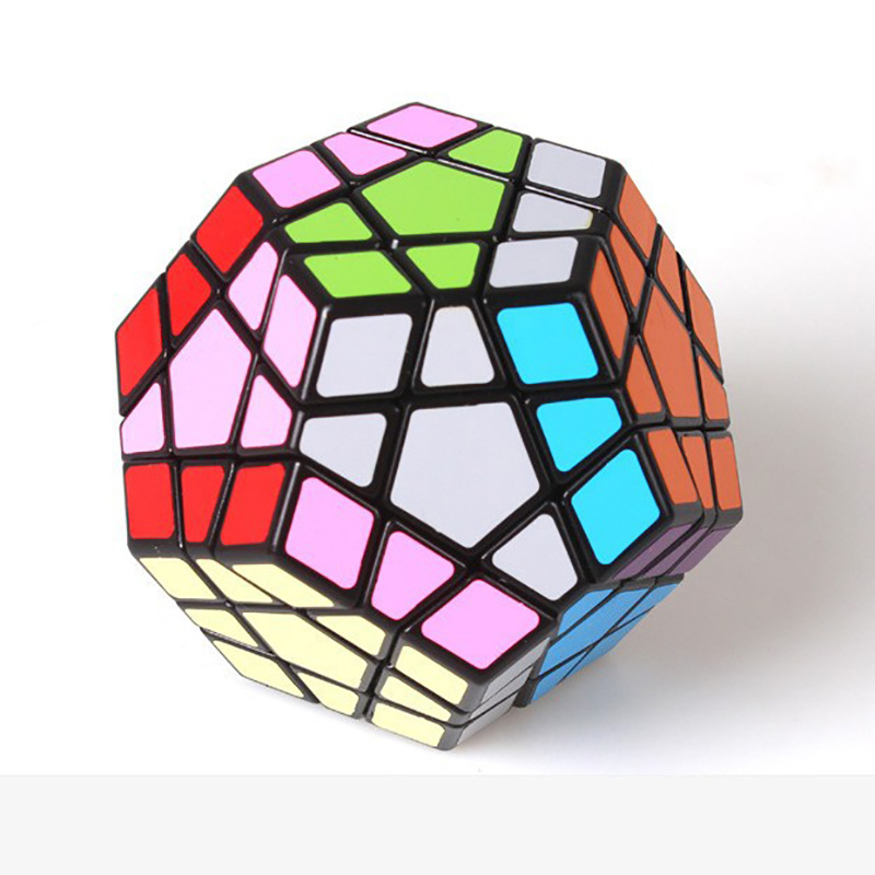 Shengshou Megaminx Magic Cubes Pentagon 12 Sides Gigaminx PVC Sticker Dodecahedron Toy Puzzle Twist(China (Mainland))