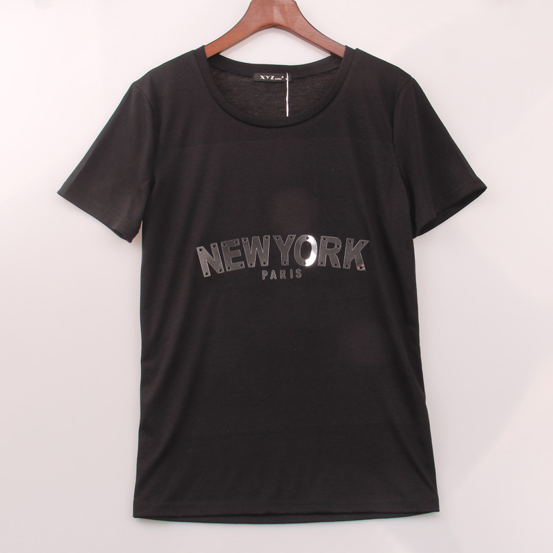 2 colors 2016 summer style t shirt women flashy new york for New york printed t shirts