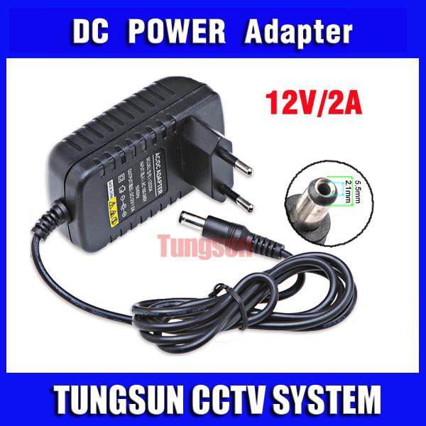 DC 12V 2A CCTV Camera System Power Supply Security Professional Converter EU or US or AU or UK Standard Plug Adapter For LED(China (Mainland))