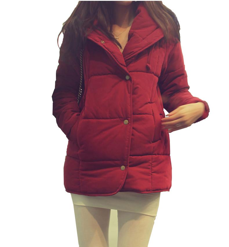Winter jacket women 2015 new fashion women coat duck down jacket women Wine red, black(China (Mainland))