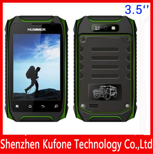 Rugged 512M/4G Hummer H1 H1+ Mobile phone MTK6572A GPS Android 4.2.2 IP67 Waterproof Dustproof shockproof 2800MAh smartphone V5(China (Mainland))