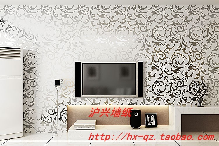 Luxury Modern Golden Silver 3D Wall Papers Gold Foil TV Background