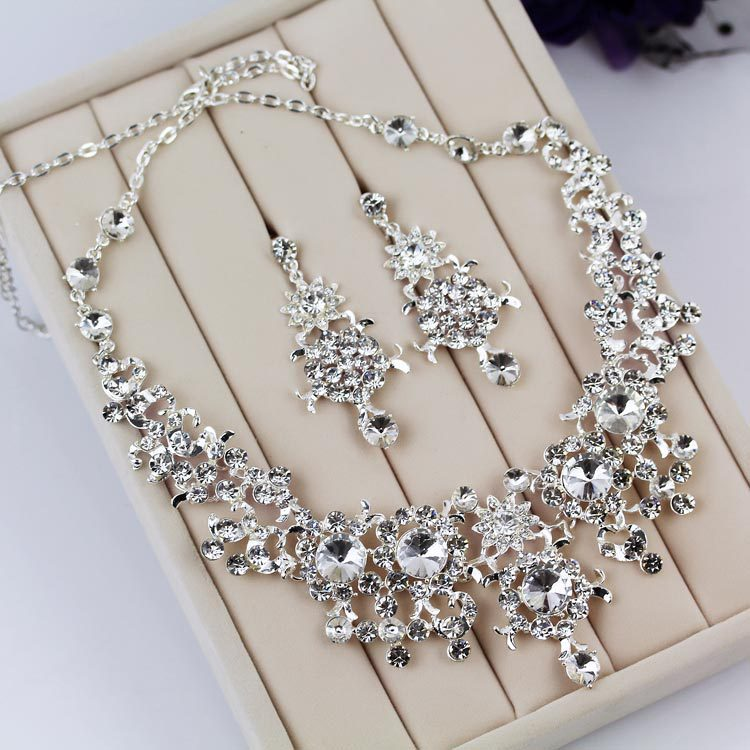 Bridal accessories silver jewelry crystal jewelry for Decor jewelry