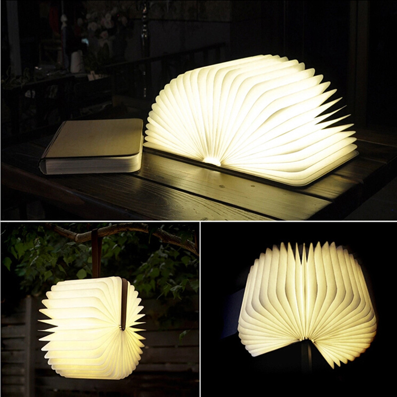 product Creative 4.5w Rechargeable Book Shape LED USB Night Light Mood Lamp Home Decor Gift Bedside Free Shipping