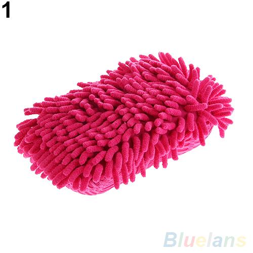 Ultrafine Fiber Chenille Anthozoan Car Wash Washer Supplies Washing Cleaning Glove 2JVW