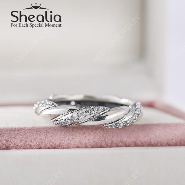 Новые 925 серебряная лента любви колец женщины обручальные кольца с ааа цирконий 2016 день святого валентина лучший подарок