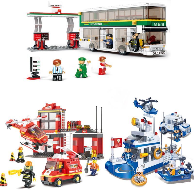 Educational DIY Toys children Building Blocks Fire Department office self-locking bricks Compatible Lego - zhichao shaw's store