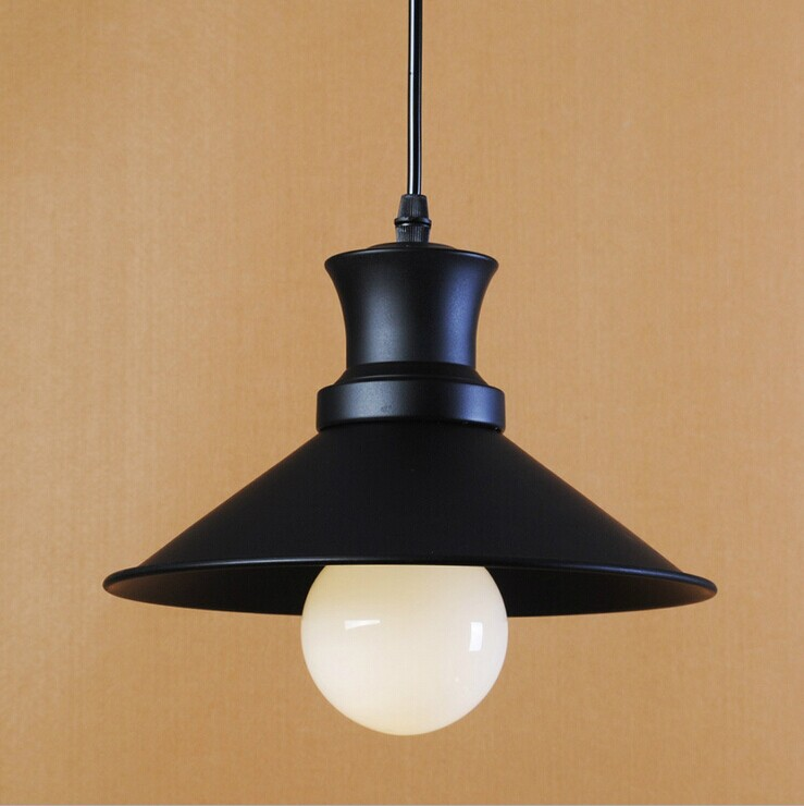 Vintage Style Pendant Lights Black Lampshade Indoor House