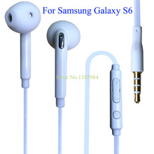 2015 Hot High Quality Stereo Headset In Ear Earphones Headphones With Mic 3.5mm Headsets Brand For Samsung Galaxy S6 G9200 1B