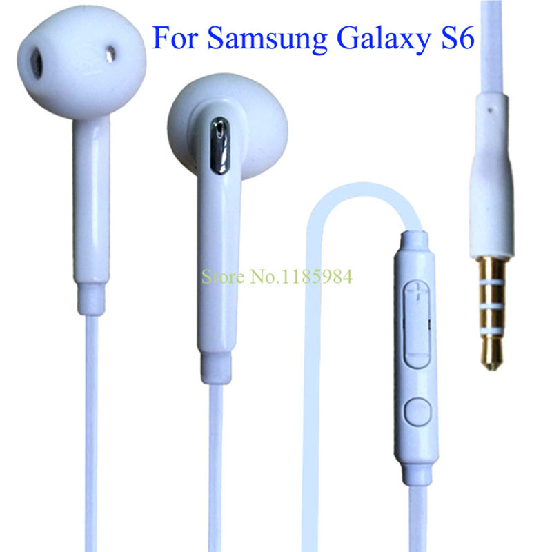 2016 Hot Sale General Stereo Earphones 1Meter With Microphone 3.5mm Brand For Samsung Galaxy S6 S7 Edge G9200 Mobile Phones B94(China (Mainland))