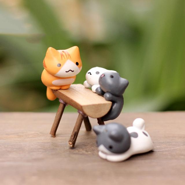 6 Pcs/Set Cute Cartoon Lazy Cats Decorations