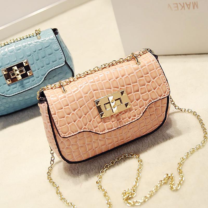 Hot Women's handbag fashion vintage british style chain stone pattern small square bag mini bag messenger bag crossbody bag(China (Mainland))