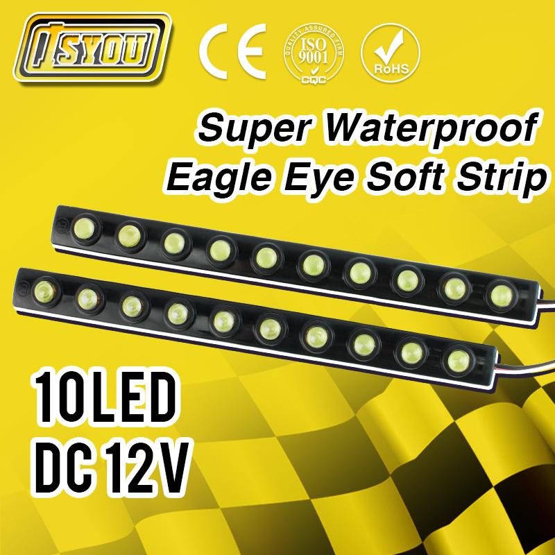 10 LED Super Bright Daytime Running LightDecorative Car Strip Light Flexible DRL Waterproof Fog Lamp - Shenzhen Isyou Technology Co., Ltd store