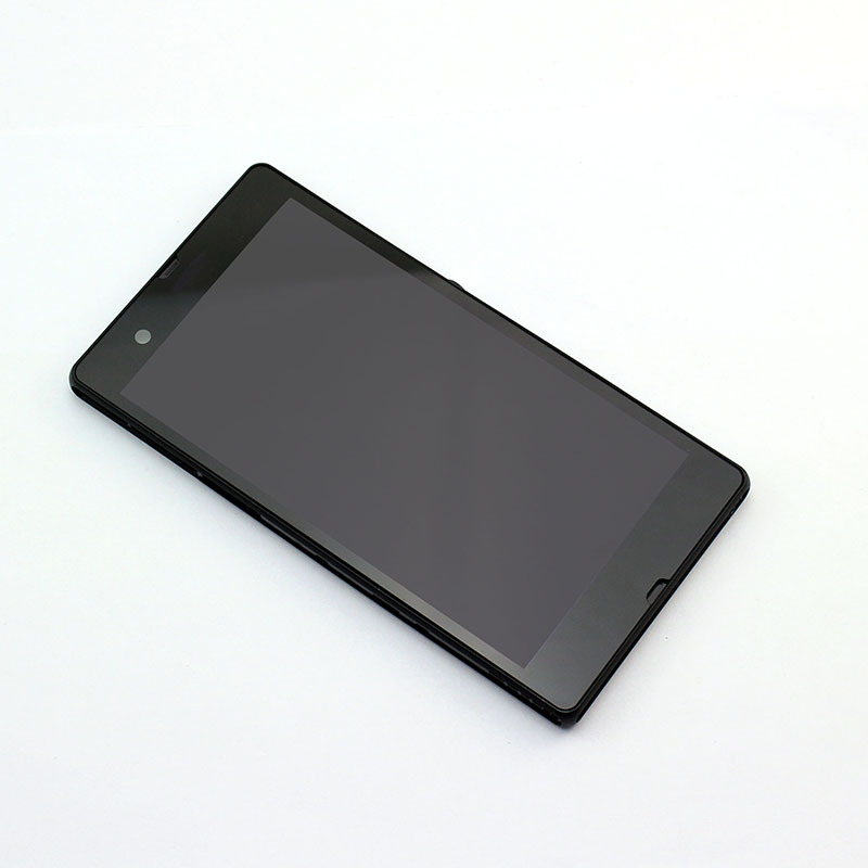 New LCD Touch Screen with Digitizer + Frame Assembly For Sony Xperia Z L36H L36 LT36 C6603 C6602 ,Black Replacement Part(China (Mainland))