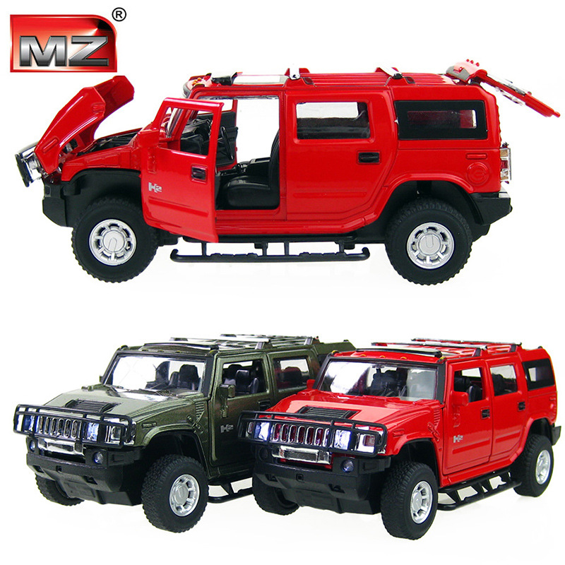 2016 MeiZhi 1:32 Scale Alloy Metal Diecast Car Model For Hummer H2 Truck Collection Model Pull Back Toys Car Flashing Musical(China (Mainland))