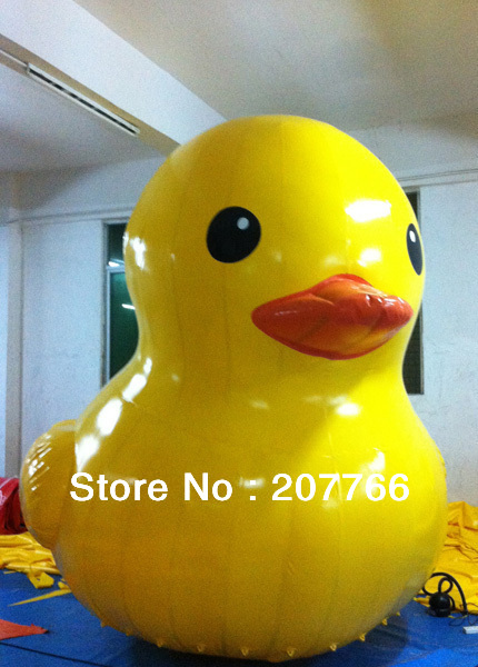 Giant Inflatable Yellow Duck Water Floats For Promotion Height 3m(China (Mainland))
