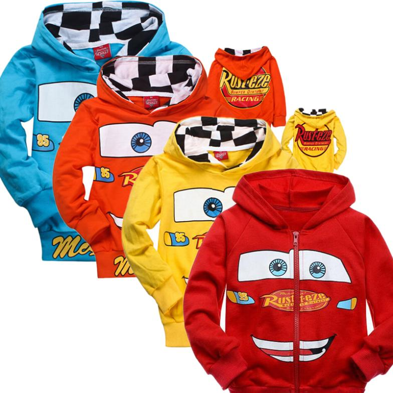 2015 New Pixar Cars Children Boys Autumn Hoodies Jacket Sweatershirt Clothes For Kids Free Shipping Retail