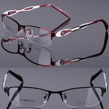 Half-frame glasses frame, fashion charm women spectacle frames optical shelves, metal glasses, myopia, hyperopia