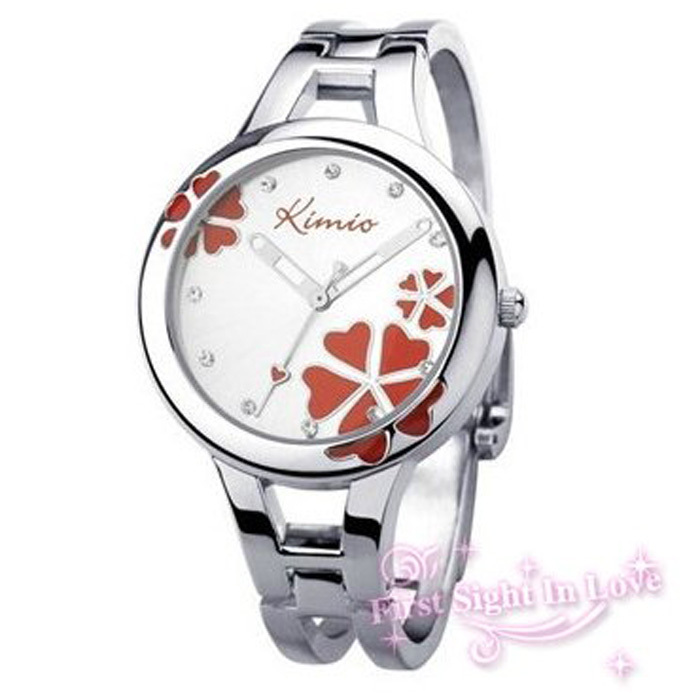 watch classic picture more detailed picture about kimio watches kimio watches men luxury brand lucky clover pattern 6 colors stainless steel quartz watches women dress