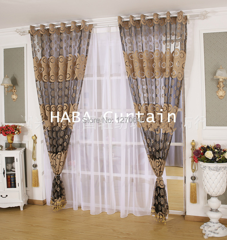 Voile curtain ideas for 3 window curtain design