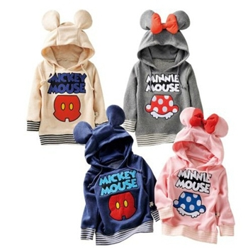 Spring Autumn Baby Girl Outerwear Children Clothing Boys Outerwear Coat Baby Cardigan Sweater Hooded Baby Girl Sports Jacket