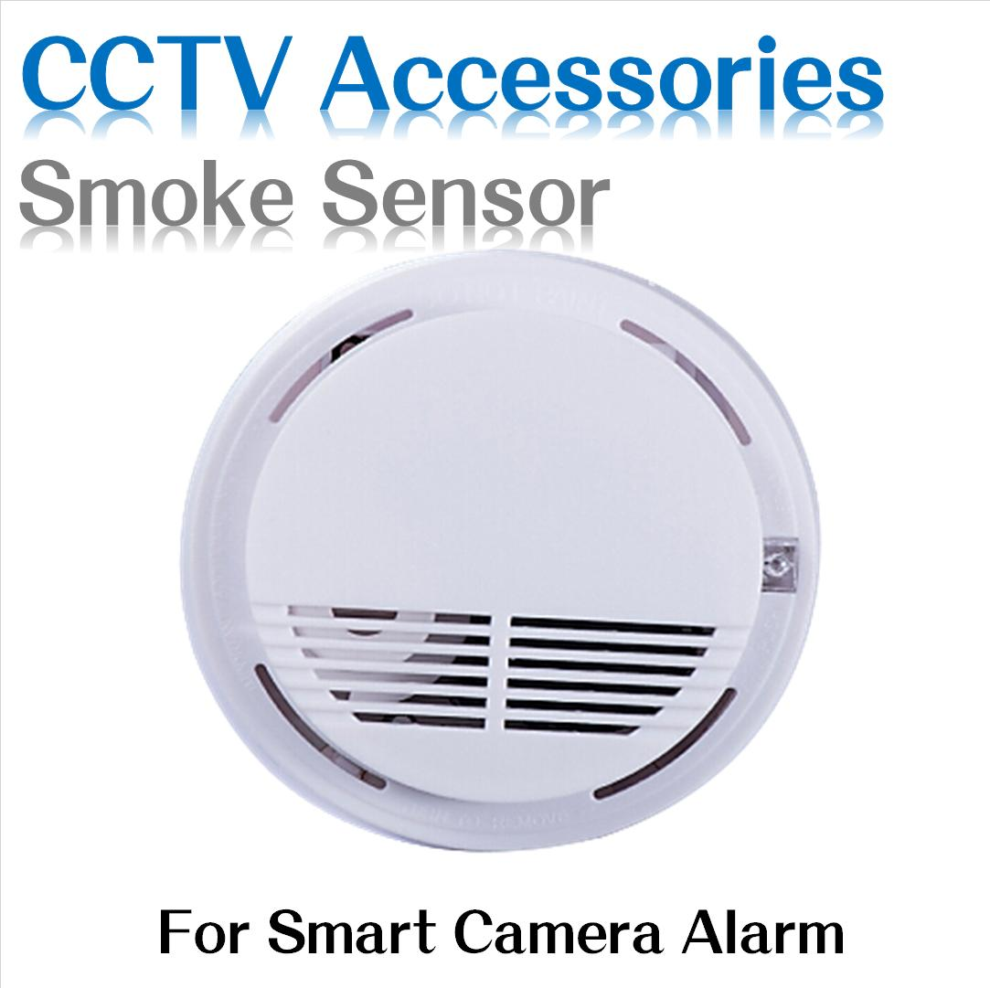 wireless smoke alarm fire smoke detector sensor alarm for smart camera home security system. Black Bedroom Furniture Sets. Home Design Ideas