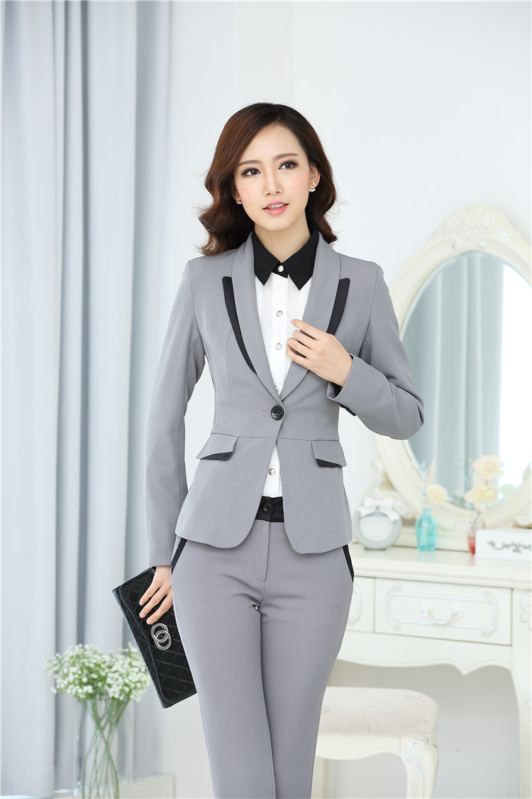 Wholesale-2015 Uniform Style Formal Pantsuits Autumn Winter ...