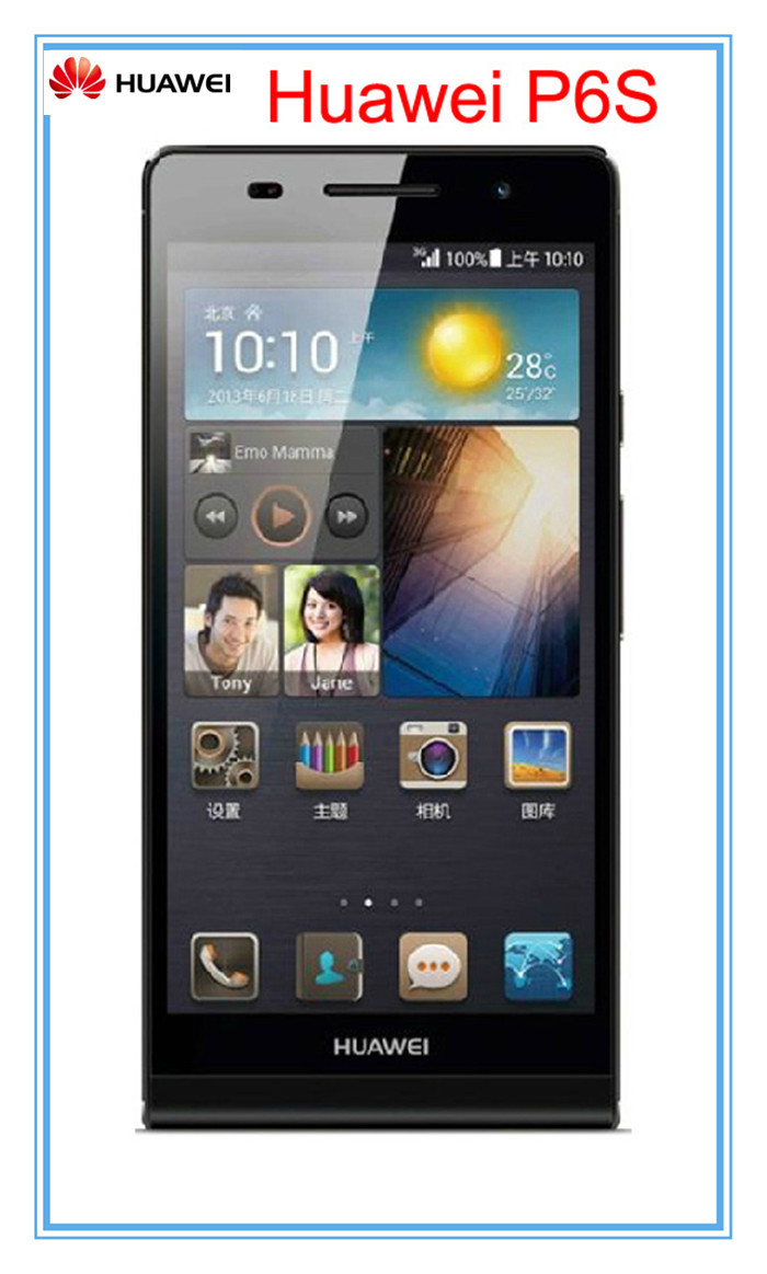 "Unlocked Original Huawei Ascend P6s U06 4.7"" IPS Quad Core Android 4.2 2gb RAM 16gb ROM Dual SIM 3G mobile Cell Phone(China (Mainland))"