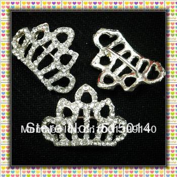 2013New! Fashion Crown Rhinestone Buckle Sliders