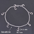 DIY 316L Stainless Steel Anklet Chain with Small Moon and Star Charms Stainless Steel Ankle Bracelet