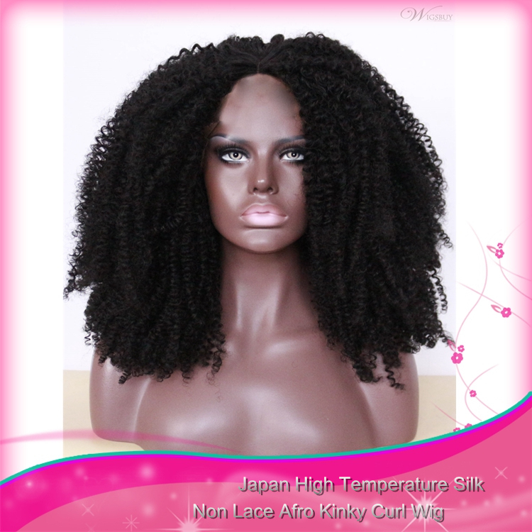 Afro Kinky Curly Wigs For Black Women Short Bohemian Curl Wig For African American Women Black Spiral Curl Wig Free Shipping(China (Mainland))
