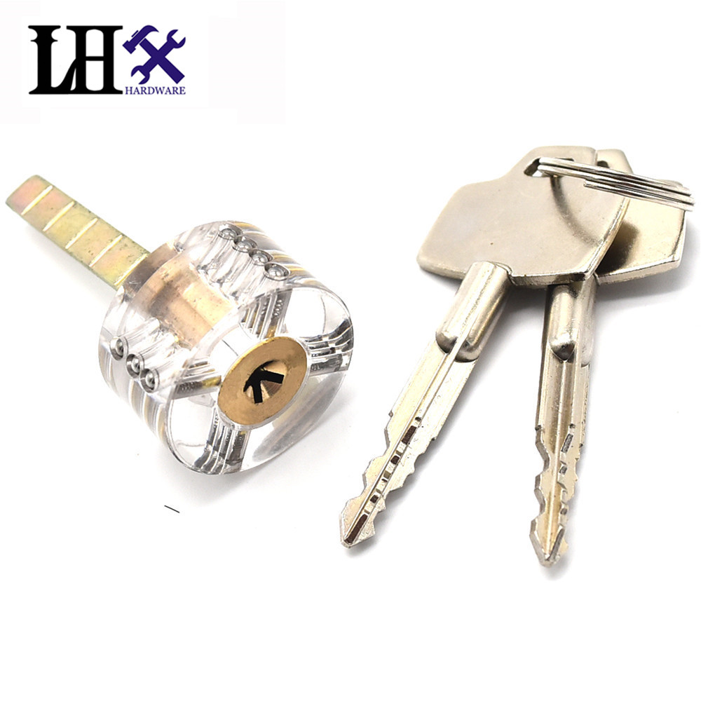 Lhx fmms280 hardware transparent cutaway practice lock for Key drawer handles