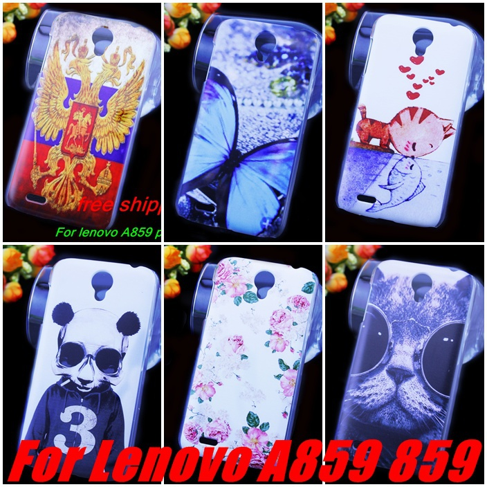Top 10 Patterns Lenovo A859 Cell Phones Case Cover Colored Paiting Case Cover Lenovo a859 Case + capinhas(China (Mainland))