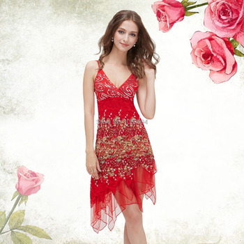 Weddings Events Special Occasion Lace cocktail Dresses Sequin Fancy Flowing For Party Evening 2015 0045