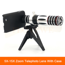 Buy 2017 5X-15X Optical Zoom Lens Telescope Phone Camera Telephoto Lenses Samsung S3 S4 S5 S6 S7 edge note 4 5 Tripod Cases for $50.85 in AliExpress store