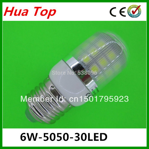 Lampada Mini E27 6W 5050 30 epistar SMD LED Light White / Warm White 220V maize Light spotlight LED Lam Bulbs With Cover lamps(China (Mainland))