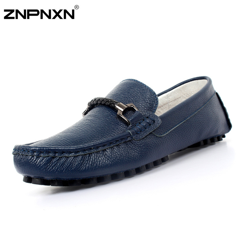 Men Shoes Genuine Leather Casual Flats Driving Shoes Fashion Men Loafers New Brand Slip On Flats Shoes 2015 Moccasins Men