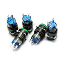 LAZ16 non locking with green light 16MM 3A 250V