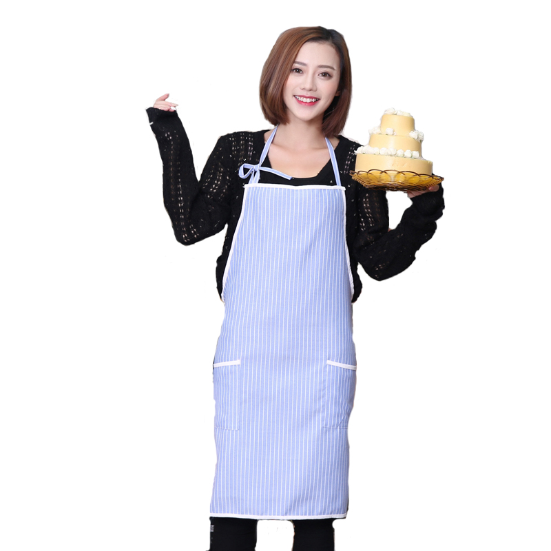 Kitchen Apron With Pocket Pinafore Cotton Aprons for Woman painting cafe Chef Waiter Cooking Adult Bib Restaurant Japan style(China (Mainland))