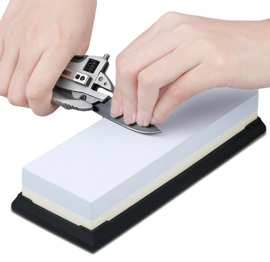 Buy Professional sharpening stone blade sharpening stone #1000/3000 Grit diamond stone ceramic knife sharpener free shipping cheap