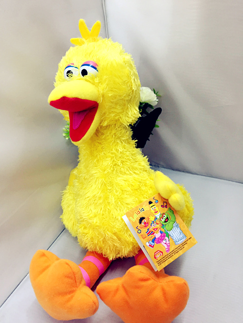 Sesame street plush toy interesting yellow bird soft doll 30cm(11.82'')Gifts for the children newborn baby toys(China (Mainland))