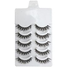5 Pairs Natural Soft Eye Lashes Makeup Handmade Thick Fake False Eyelashes Extension Voluminous Makeup Beauty(China (Mainland))
