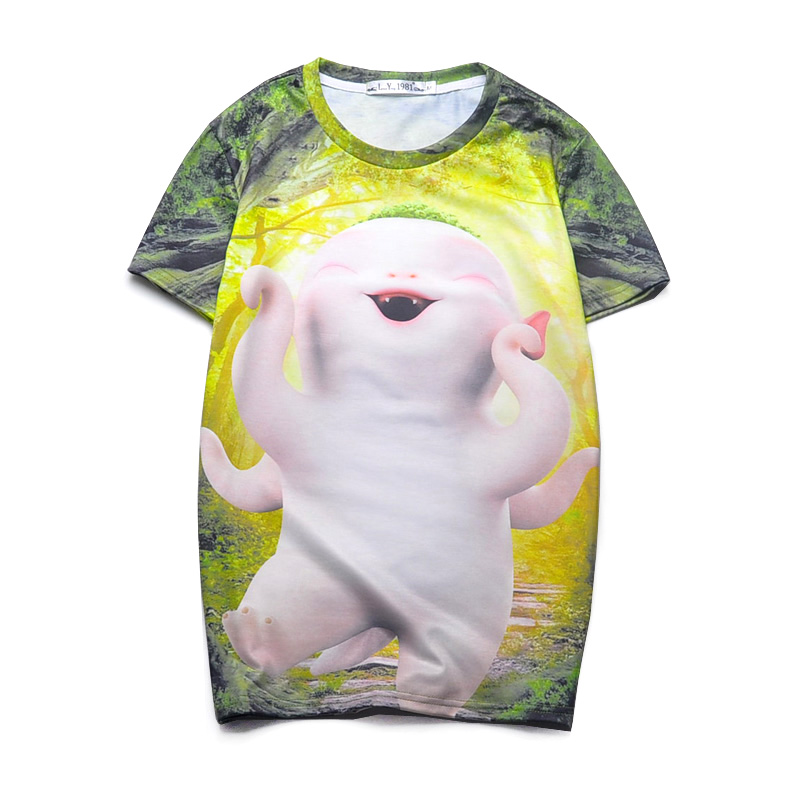 Top Quality Printed 3d T Shirts Vintage Summer Animal Tee