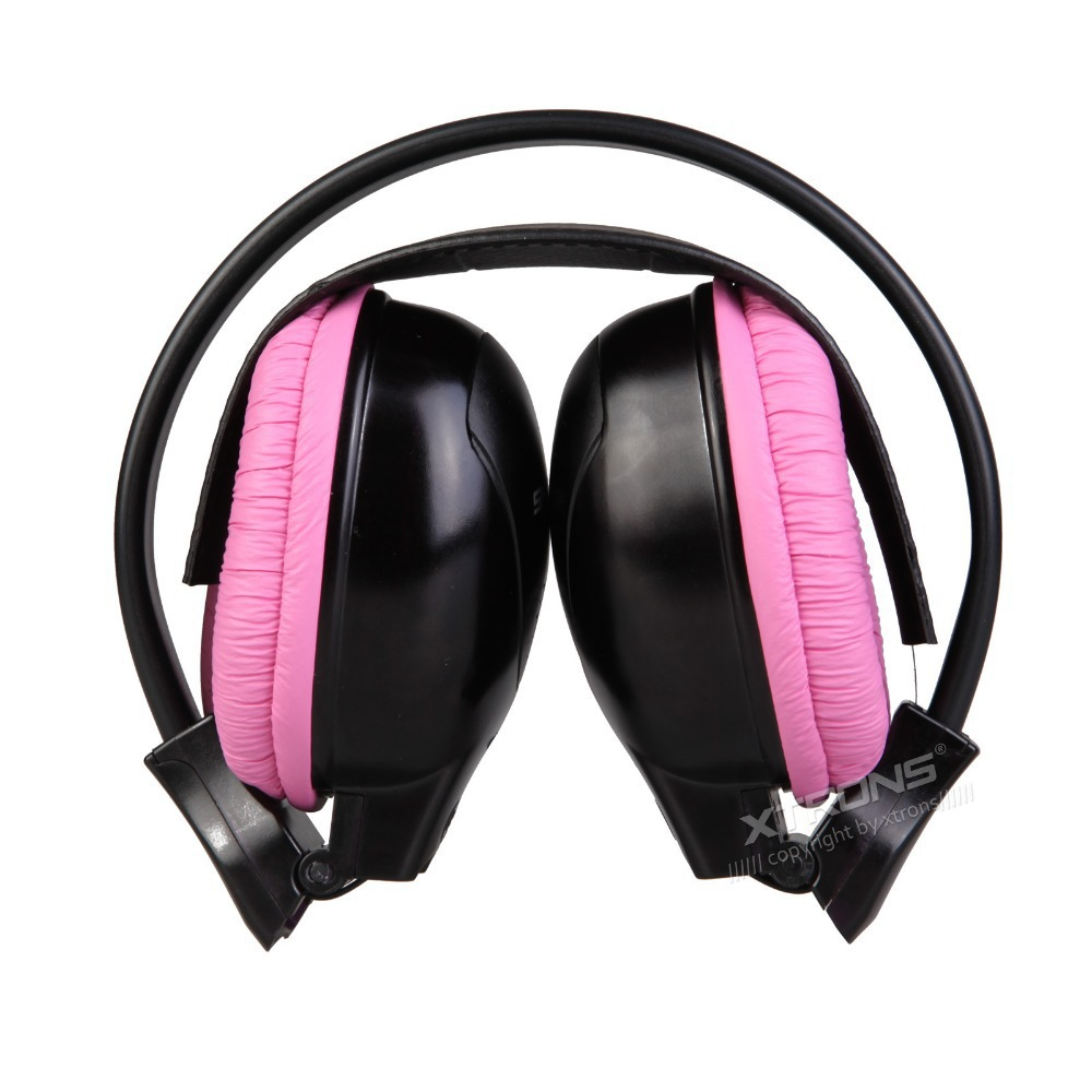 XTRONS 2pcs/lot Dual Channel Wireless IR Headphones for Car Headrest DVD & TV & PC & MP3 for Children Pink Blue Color(China (Mainland))