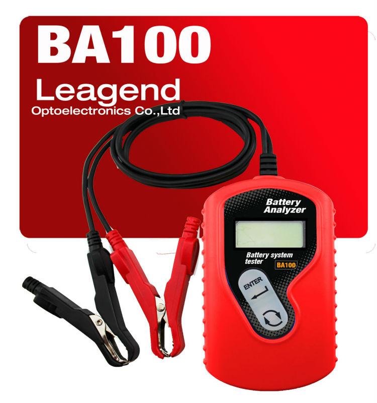 Professional car battery tester tool Ba100 / 12V vehicle battery analyzer -charging percentage test ,battery life test(China (Mainland))