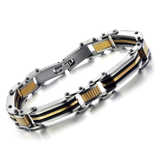 2015 Pulseira Masculina Pulseiras Femininas New Accessories Personality Men's Steel Bracelet Gs621 Tide - kiki fashion jewelry ( worldwide store)